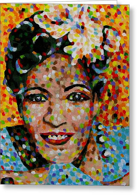 Billie Holiday Greeting Cards - Billie Greeting Card by Denise Landis