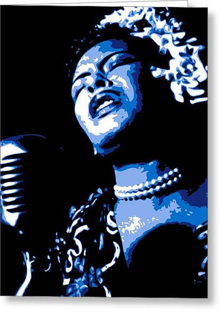 African-americans Greeting Cards - Billie Holiday Greeting Card by DB Artist