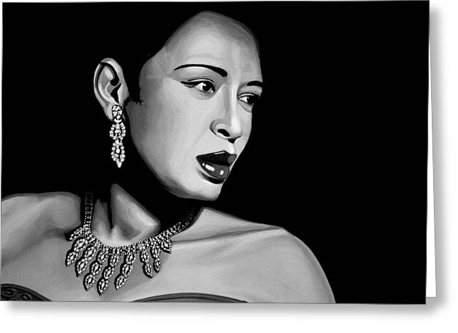 Billie Holiday Greeting Card by Meijering Manupix
