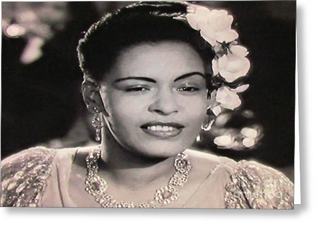 Billie Holiday One Greeting Card by John Malone