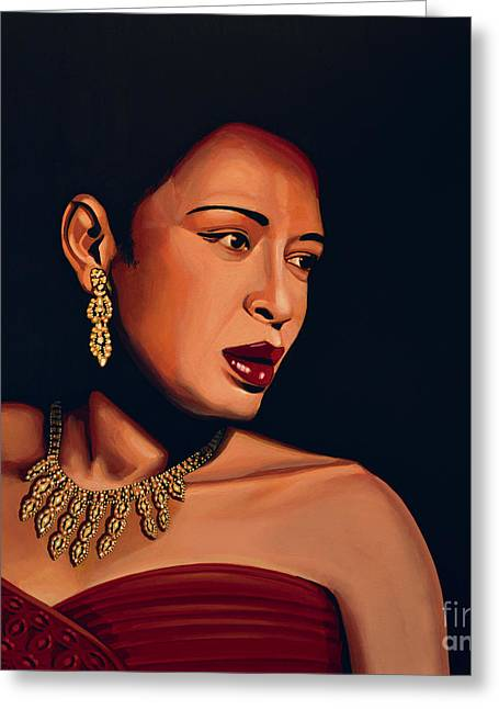 Billie Holiday Greeting Card by Paul Meijering