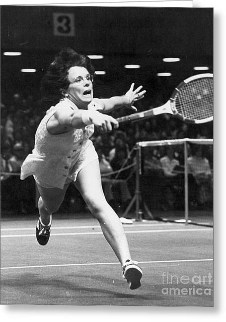 Billie Jean Greeting Cards - Billie Jean King Greeting Card by Granger