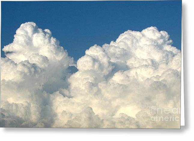Santuci Greeting Cards - Billowing Clouds 1 Greeting Card by Rose Santuci-Sofranko