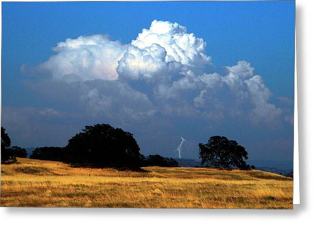 Photography Lightning Greeting Cards - Billowing Thunderhead Greeting Card by Frank Wilson