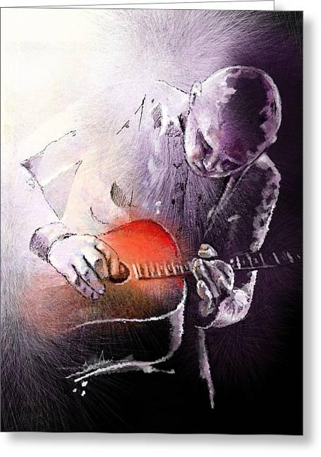 Miki Digital Greeting Cards - Billy Corgan Greeting Card by Miki De Goodaboom