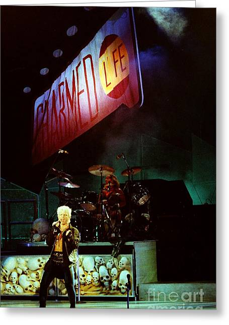 Live Art Greeting Cards - Billy Idol 90-2277 Greeting Card by Gary Gingrich Galleries