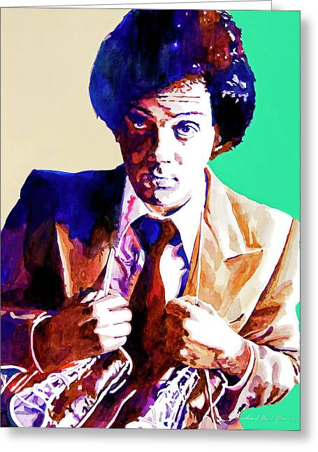 Icon Paintings Greeting Cards - Billy Joel - New York State of Mind Greeting Card by David Lloyd Glover