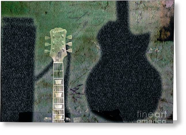 Epiphone Guitars Greeting Cards - Billys Room  Greeting Card by Steven  Digman