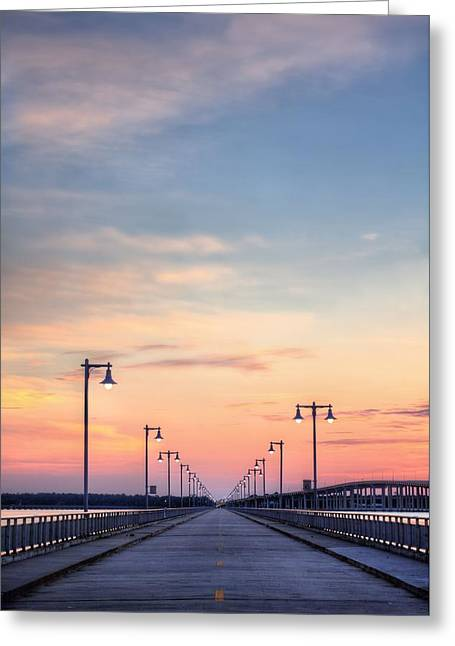 Biloxi Greeting Cards - Biloxi Back Bay Sunrise Greeting Card by JC Findley