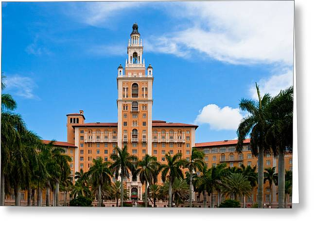 Historic Architecture Greeting Cards - Biltmore Hotel Greeting Card by Ed Gleichman