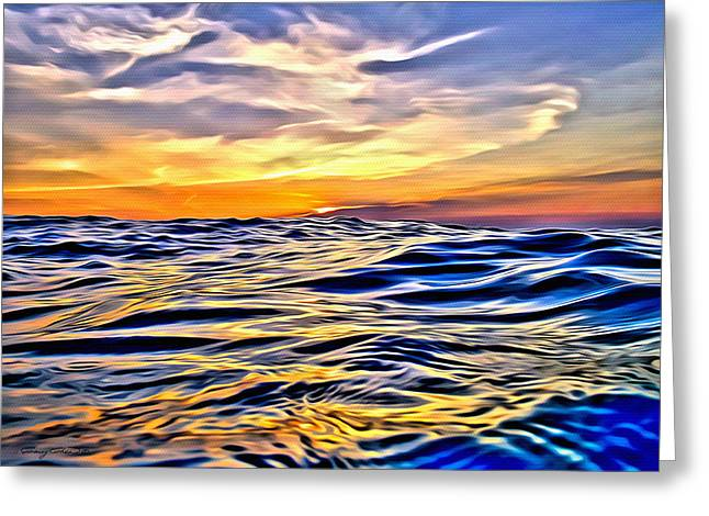 Bimini Greeting Cards - Bimini Sunset Greeting Card by Anthony C Chen