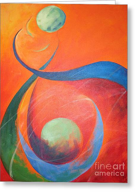 Best Sellers -  - Stellar Paintings Greeting Cards - Binary Greeting Card by Pax Bobrow