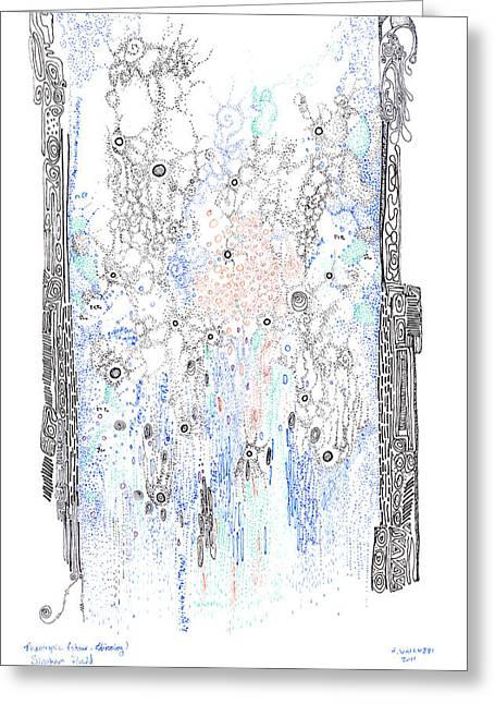 Bingham Fluid Or Paste Greeting Card by Regina Valluzzi