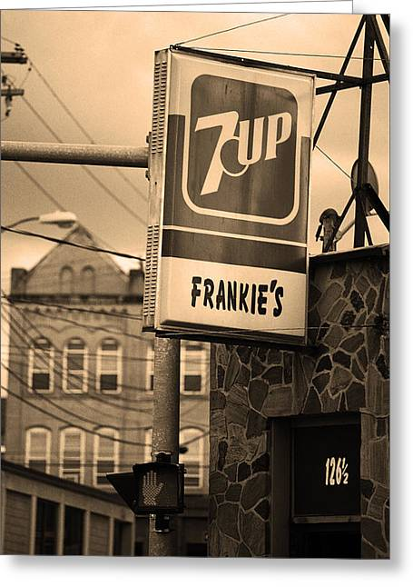 Saloons Greeting Cards - Binghampton New York - Frankies Tavern Greeting Card by Frank Romeo