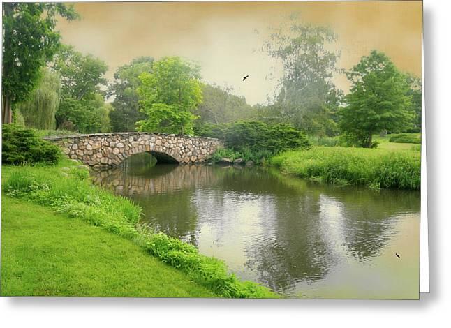 Binney Park Spotlight Greeting Card by Diana Angstadt