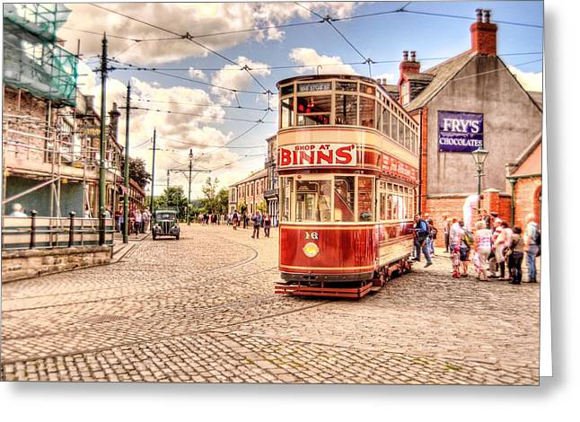 Binns Tram 5 Greeting Card by John Lynch