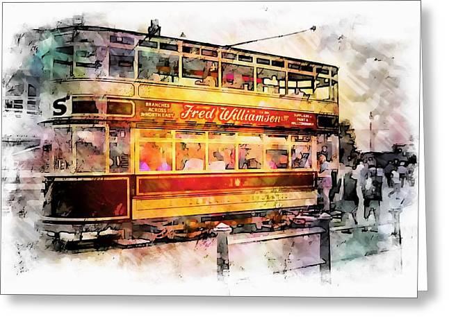 Binns Tram 8 Greeting Card by John Lynch