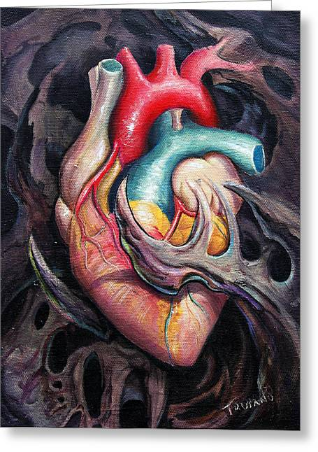 Health Greeting Cards - Bio Heart Greeting Card by Matt Truiano