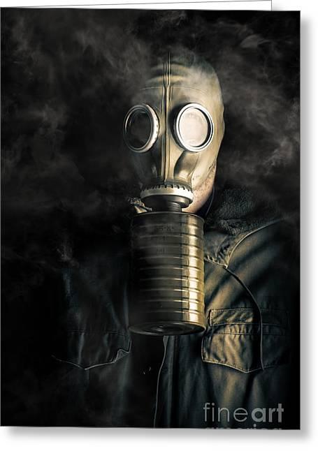 Cataclysm Greeting Cards - Biohazard death and destruction Greeting Card by Ryan Jorgensen