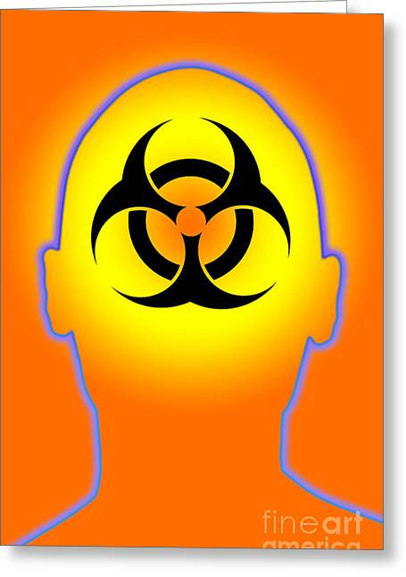 Biohazard Greeting Cards - Biohazard Greeting Card by George Mattei