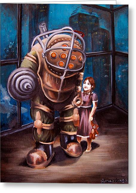 Daddy Greeting Cards - Bioshock Greeting Card by Emily Jones