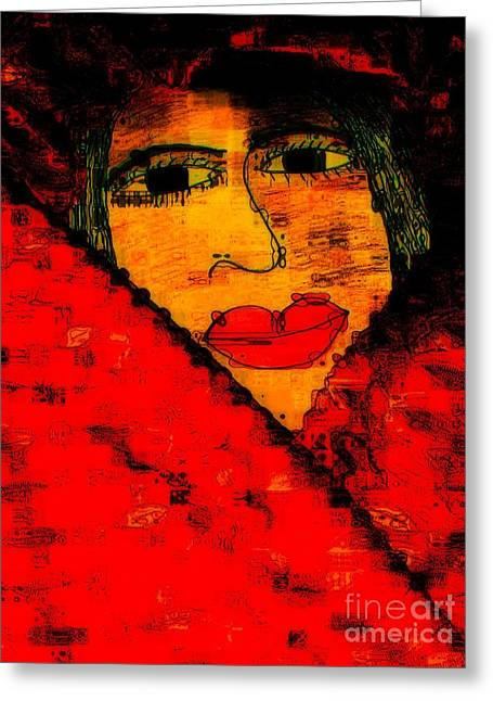 Serve Mixed Media Greeting Cards - Bipolar and a Friend I Love Greeting Card by Fania Simon