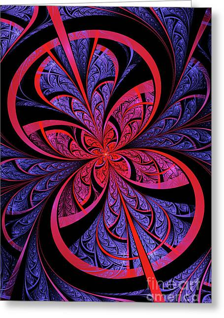 Abstract Digital Digital Greeting Cards - Bipolar Greeting Card by John Edwards
