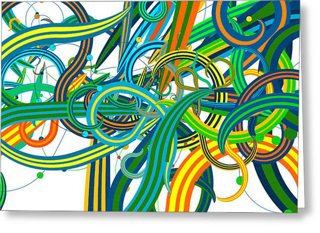 Bipolar Mania Rollercoaster Abstract Greeting Card by William Braddock
