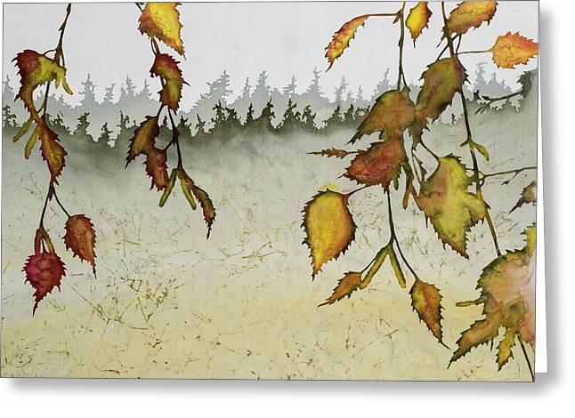Birch In Autumn Greeting Card by Carolyn Doe