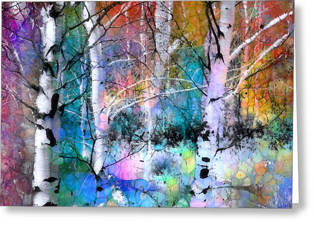 Layer Greeting Cards - Birch Magic Greeting Card by Tara Turner