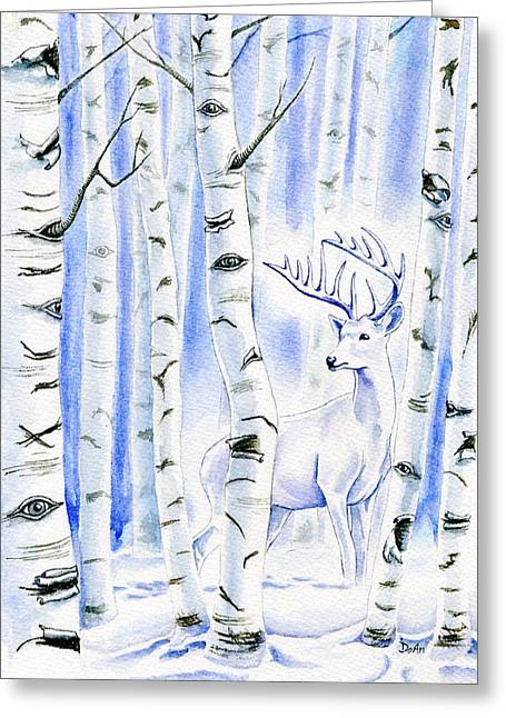 Birch Spirit Greeting Card by Antony Galbraith