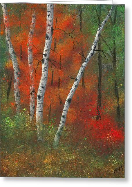 Birch Tree Pastels Greeting Cards - Birches II Greeting Card by Garry McMichael