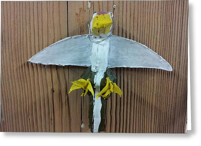 Winged Sculptures Greeting Cards - Bird 3 Greeting Card by William Douglas