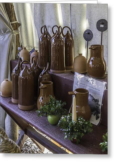 Water Jug Greeting Cards - Bird Bottles For Sale Greeting Card by Teresa Mucha