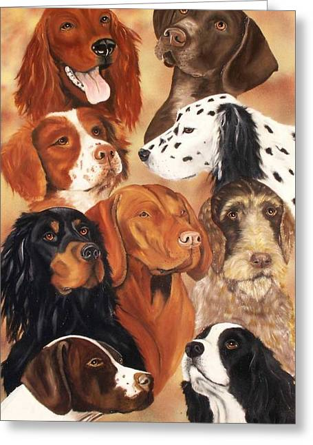 Setter Pointer Greeting Cards - Bird Dogs Greeting Card by Debbie LaFrance