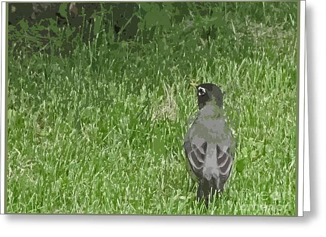 Enhanced Greeting Cards - Bird Enjoying The Summer Greeting Card by Adri Turner