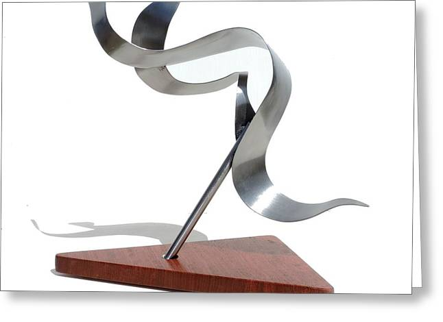 Geometric Sculptures Greeting Cards - Bird In Flight #9 Greeting Card by Garry Zayon
