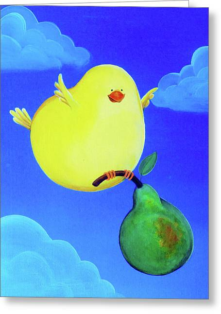 Bird In The Air Greeting Card by Lael Borduin