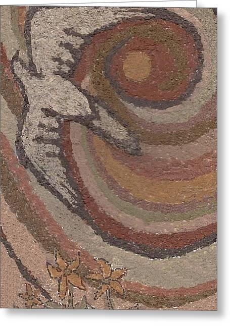 Hopi Drawings Greeting Cards - Bird of Desert Sand Greeting Card by Dawn Senior-Trask