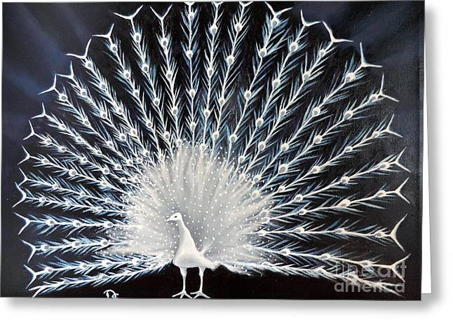 Print On Canvas Greeting Cards - Bird of Eden Greeting Card by Dianna Lewis