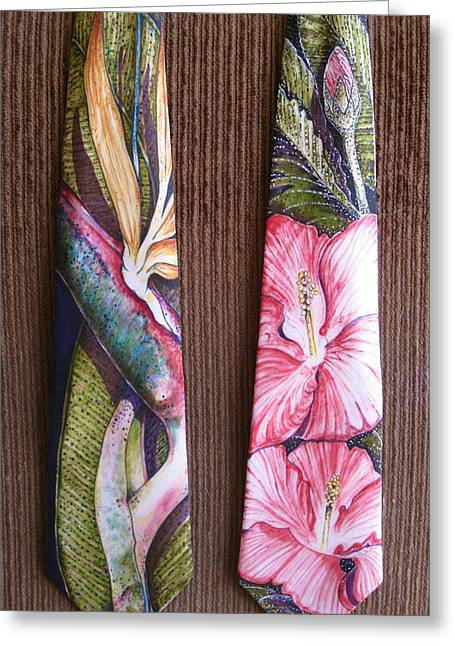 Paradise Tapestries - Textiles Greeting Cards - Bird of Paradise Greeting Card by David Kelly