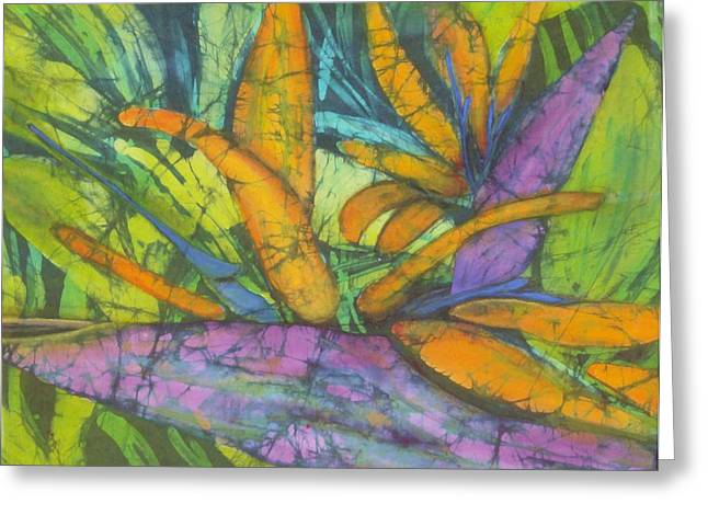 Paradise Tapestries - Textiles Greeting Cards - Bird of Paradise I Greeting Card by Kay Shaffer