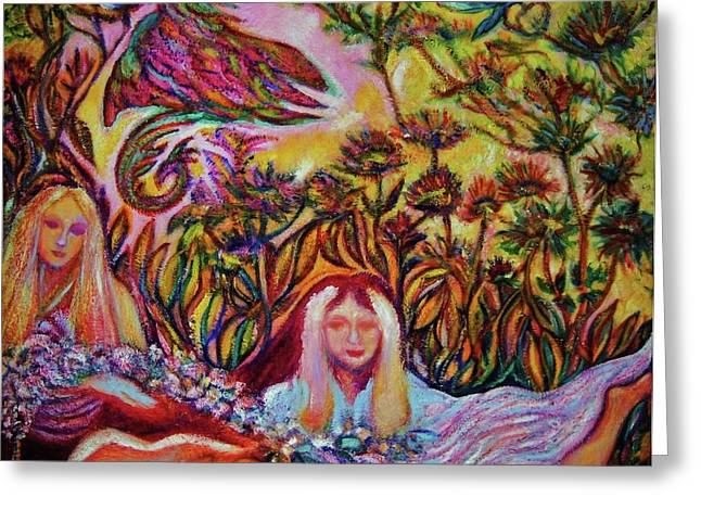 Art Decorator Discounts Greeting Cards - Bird of Paradise II -Art DECO Greeting Card by Gunter  Hortz