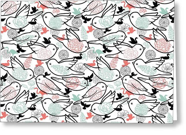 Bird Solid Greeting Card by Elizabeth Taylor