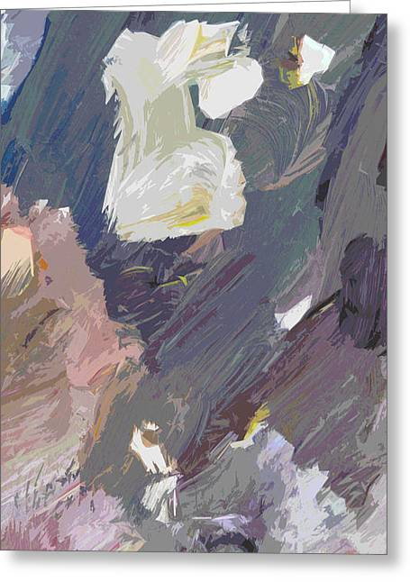 Muted Paintings Greeting Cards - Bird Streets Greeting Card by David Lloyd Glover