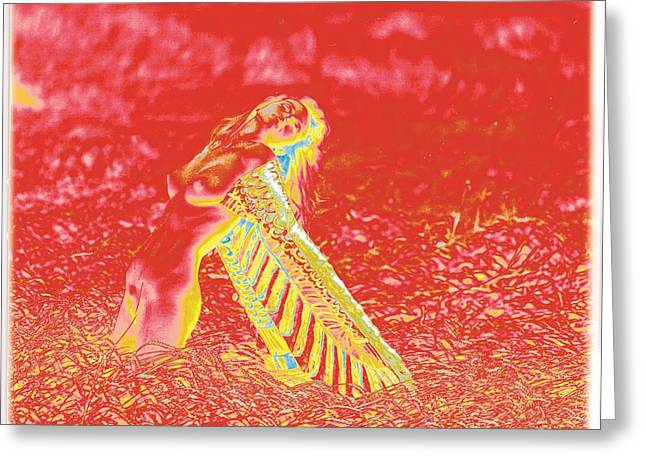 Lanvin Greeting Cards - Bird Woman / 1 Greeting Card by Jean-Marie Bottequin