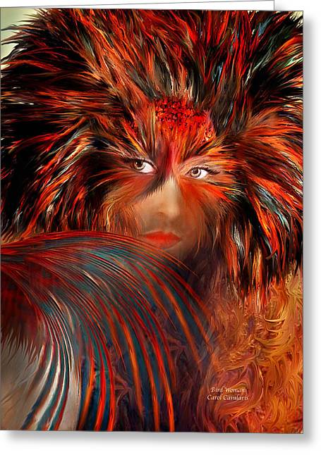 Purchase Art Greeting Cards - Bird Woman Greeting Card by Carol Cavalaris