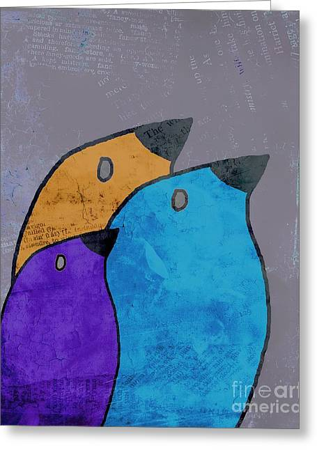 Multiplication Greeting Cards - Birdies - 02ac2bb Greeting Card by Variance Collections