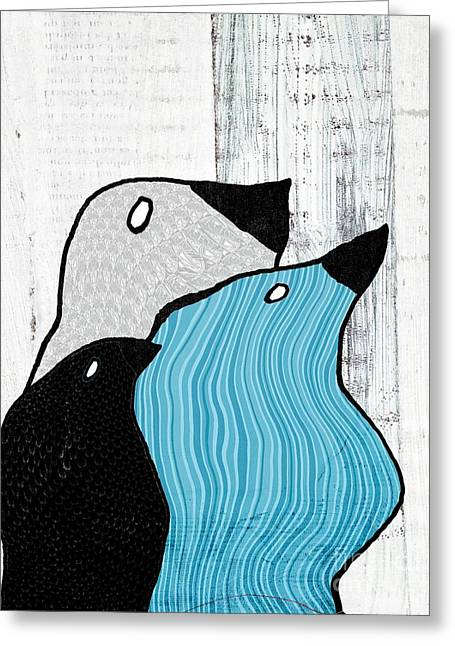Contemporary Wall Decor Greeting Cards - Birdies - 33tx Greeting Card by Variance Collections