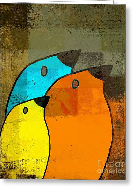 Multiplication Greeting Cards - Birdies - c02tj1265c2 Greeting Card by Variance Collections